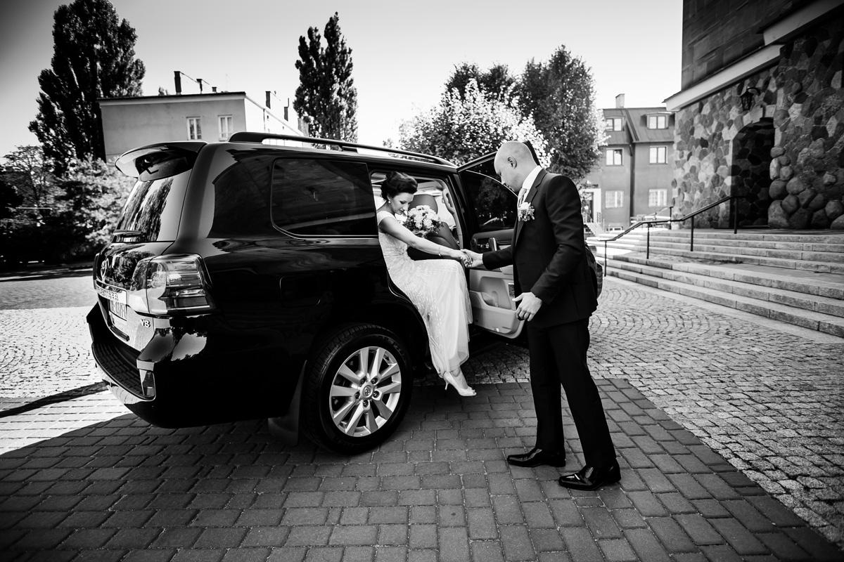 auto do slubu Warszawa