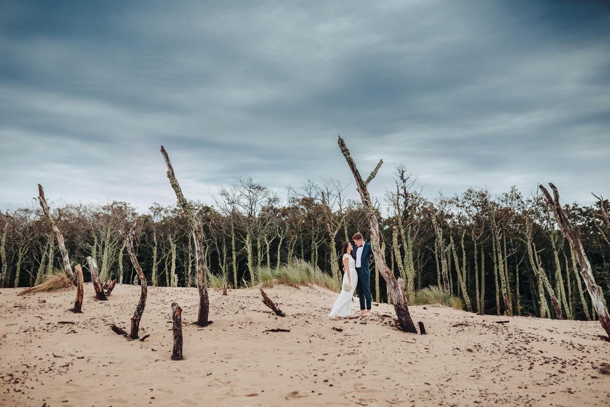 sesja ślubna nad morzem Łeba