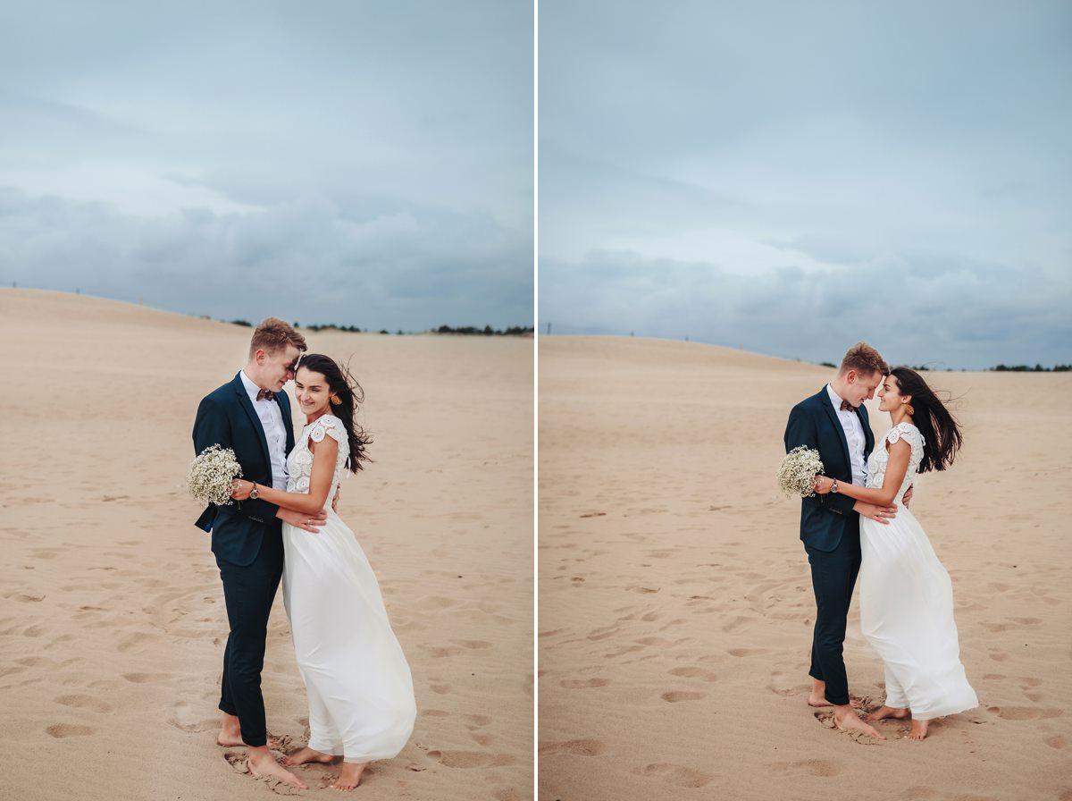 plener ślubny nad morzem Łeba
