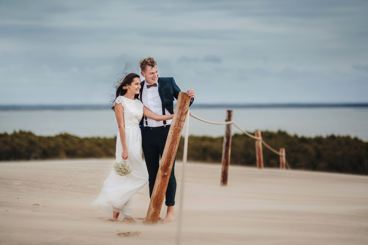 sesja ślubna ruchome piaski Łeba