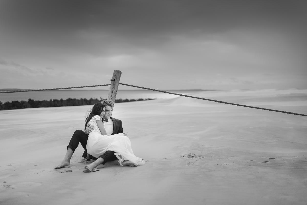 sesja ślubna wydma łącka