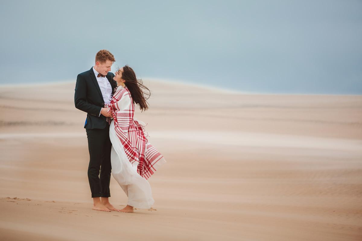 plener ślubny nad Bałtykiem